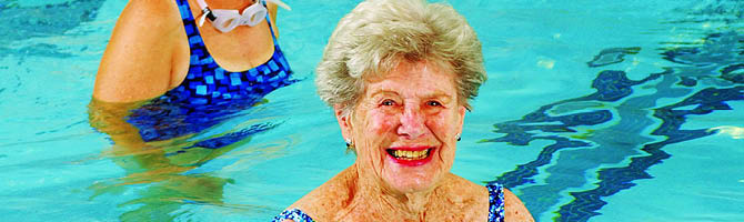 older adults swimming