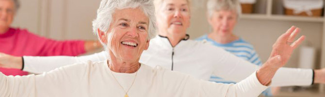 older adults doing cardio