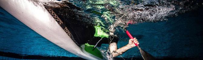 kayaking in swimming pool