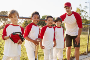 The injuries typically associated with Youth Sports are Concussions, sprains and strains, broken bones, repetitive motion injuries, and heat-related illnesses.