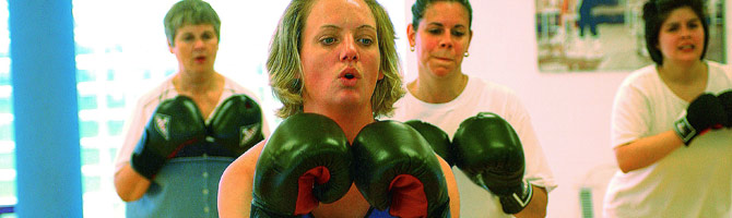 adults in boxing class