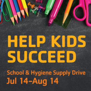 School and Hygiene Supply Drive