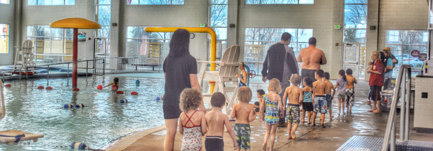 youth in swim lessons