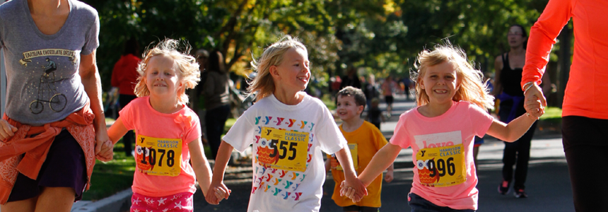 youth participating in YMCA run
