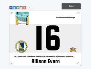 Famous Idaho Potato Bib number