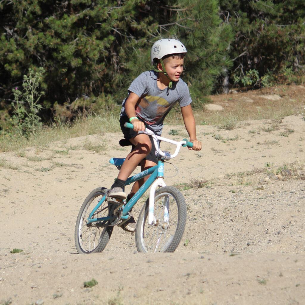 boy mountain biking